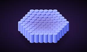 圆柱组成六边形弹性伸缩css3特